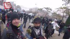 Fransa'da polisin attığı gaz kapsülü göstericiye isabet etti