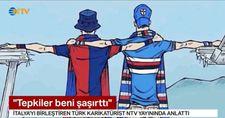 Türk karikatüristin çizimi İtalya'yı birleştirdi