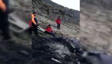 Düşen eğitim uçağının enkazına ulaşıldı