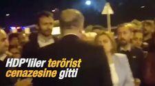 HDP'liler terörist cenazesine gitti