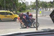 Kahramanmaraş'ta 7 kişi bir motosiklete bindi
