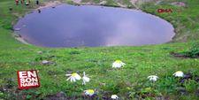 Gümüşhane'deki Dipsiz Göl'ün suyu kalmadı