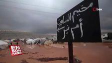 İdlib'deki mülteci kampı sular altında kaldı