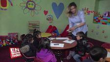 Köy okululu onarıp anaokulu açtı