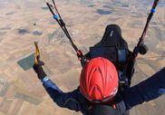 Çorum'dan Konya'ya paraşütle 8 saat 15 dakikada uçtu