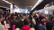 İstanbul'da metroda yaşanan arıza yoğunluğa sebep oldu