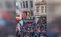 Trabzonsporlu taraftarlar GS Store'a saldırdı