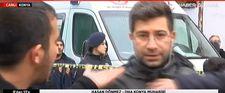 Konya'da çöken binanın önünden yayın yapan muhabire saldırı
