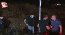 Ümraniye'de alkollü sürücü polisten kaçarken kaza yaptı