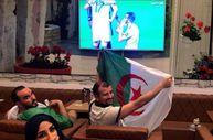 İstanbul'da finali izleyen Cezayirlilerin galibiyet sevinci