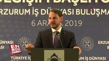 Berat Albayrak, Erzurum'da iş dünyası ile bir araya geldi