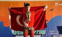 Genç halterci Hakan Şükrü Kurnaz Avrupa Şampiyonu