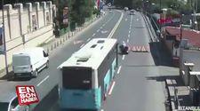 Beşiktaş'ta otobüsün çarptığı motosikletlinin metrelerce sürüklendi