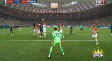 Fransa 1-0 Hırvatistan Gol Mario Mandzukic (KK)