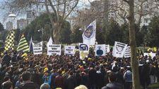 Fenerbahçe taraftarı TFF'yi protesto etti