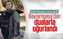 Şehit Esma Çevik'in Bayrampaşa'daki evinin önünde helallik alındı