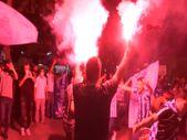 Adana Demirspor taraftarları davul zurna ile kutlama yaptı