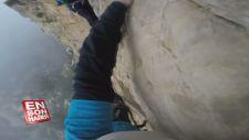 Tırmanış yapan adamın kamerası ile kaydettiği adrenalin dolu görüntüler
