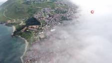 Sinop'ta muhteşem sis manzarası