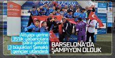Şırnak U13 futbol takımı Barselona'da şampiyon oldu