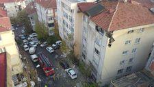 Şişli'de 6 katlı binanın çatısı çöktü