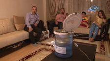 Sivas'ta sıcaktan bunalan adam damacanadan klima yaptı
