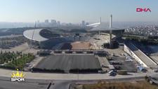 Yenilenen Olimpiyat Stadı havadan görüntülendi
