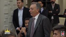 Ahmet Nur Çebi futbolcularla konuştu