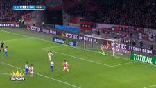 Naci Ünüvar, Ajax formasıyla ilk golünü attı