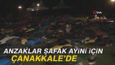 Anzaklar şafak ayini için Çanakkale'de