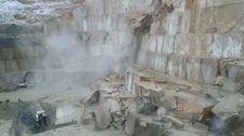 Bursa'da mermer ocağında yaşanan toprak kayması