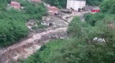 Trabzon'da HES borusu patladı