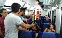 Eskişehir'de evcil hayvan için tren 2 saat rötar yaptı