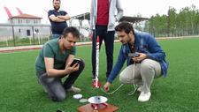 Lise öğrencilerinin yerli roketi gökyüzüyle buluştu