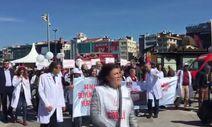 Türk Tabipleri Birliği seçim yürüyüşü yaptı