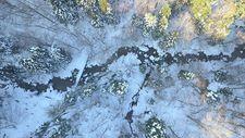 Uludağ'da kaybolan iki kişinin arandığı bölge drone ile görüntülendi