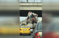 Ümraniye'de kağıt toplayıcılarının tehlikeli yolculuğu