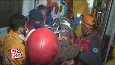Bursa'da 8 defineci, mahsur kaldıkları mağaradan kurtarıldı