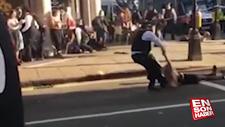 İngiltere'de göstericilere sert polis müdahalesi