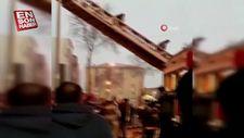 Ankara'da mobilyacılar sitesinde yangın