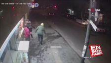 Depremin yaşattığı panik güvenlik kamerasında