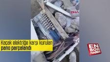 Silopi'de kaçak elektriğe karşı kurulan pano parçalandı
