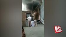 Hindistan'da Müslüman ailenin evi yakıldı