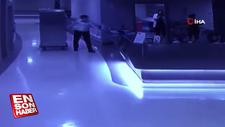 Pendik'te hastanede yemek dağıtan garson hırsız çıktı