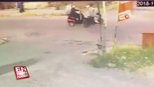 Engelli aracıyla seyreden yaşlı şahsa bisikletiyle çarpıp kaçtı