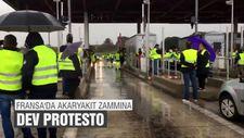 Fransa'da akaryakıt zammına dev protesto
