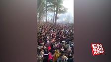Yunanistan sınırında göçmen kalabalığı