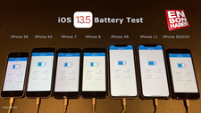 iOS 13.5 batarya performans testi