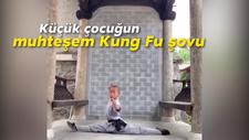 Küçük çocuğun, muhteşem Kung Fu şovu