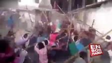 Hindistan'da ilginç sopalı kavga